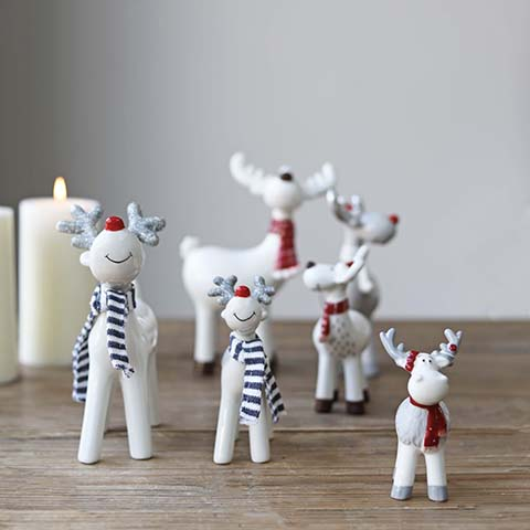 Ceramic reindeers & friends