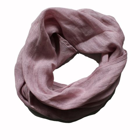 100% PURE LINEN SCARF  - ROSE