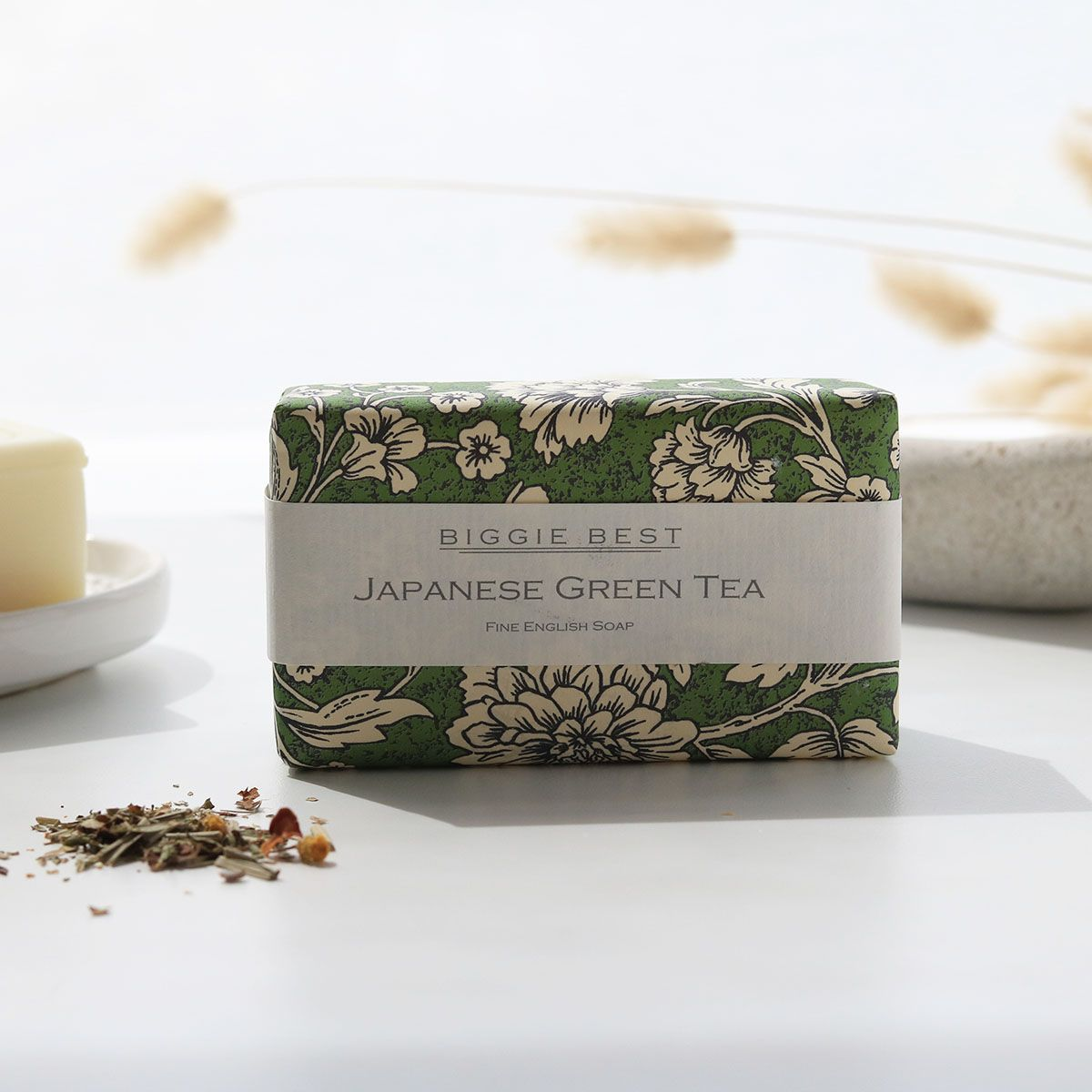 Set Of Two Fine English Soap Japanese Green Tea
